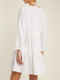 Click here to buy Melissa Odabash Reid V-neck embroidered cotton dress at MATCHESFASHION.COM