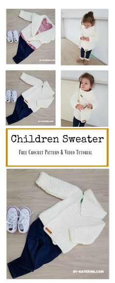 Children Sweater Free Crochet Pattern and Video Tutorial