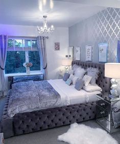 Cute Bedroom Ideas, Girl Bedroom Designs, Room Ideas Bedroom, Dream Bedroom, Master Bedroom, Bedroom Inspiration, Master Suite, Bed Room, Cool Bathroom Ideas