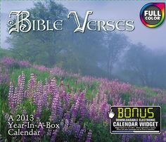 Buy Bible Verses 2013 Boxed Calendar online at Megacalendars houghtfully chosen scripture and beautiful photography make this calendar title a perennial favorite Every day you ll enjoy peace of mind from God's creation