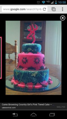 Awesome birthday cake for all yall country girl