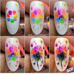 art acuarela rafikova_nailart with get_repost . Simple Nail Art Designs, Easy Nail Art, Cool Nail Art, Nail Designs, Diy Nails, Cute Nails, Manicure, Spring Nails, Summer Nails