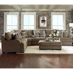 Grenada - Mocha Large Sectional Living Room Set | House | Pinterest ...