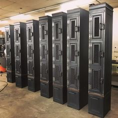 Customized Country Club lockers built by Vintage Industrial in Phoenix.