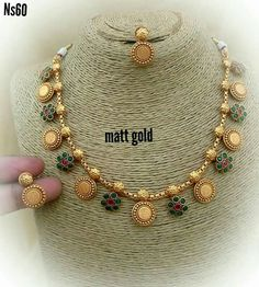 Gold Jewelry In China Royal Jewelry, India Jewelry, Gold Jewelry, Jewelery, Gold Necklaces, Beaded Jewelry, Gold Jewellery Design, Necklace Designs, Ring Designs
