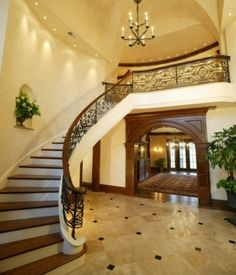 Love love love these stairs! This would make such a beautiful entrance to a house!