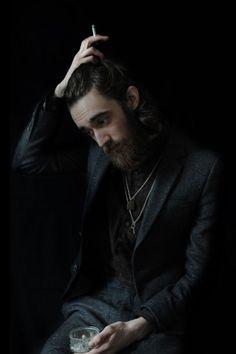 Black moody beard.  #beard #facialhair #stash #men #rugged #manly #woodsman #lumberjack
