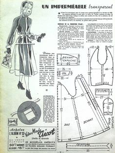 GRATUIT! 30 SUPERBES Patrons Couture Vintage de 1952 ! 50's