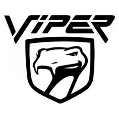 Viper Logo Mopar Dodge Chrysler Car Vinyl Decal by decalstick