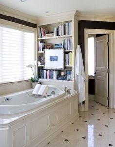 Cozy Bathtub Book Nook by Sroka Design, Inc. — at http://srokadesign.com.