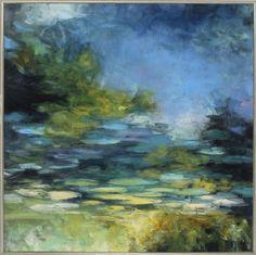 Water Lilies III Framed Painting Print