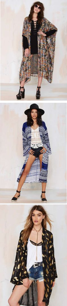 Summer layers—it's a thing. Shop @nastygal for decadent kimonos made for summertime soirees.