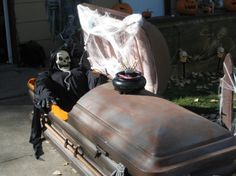 maybe I should give my casket a paint makeover to age it up some?