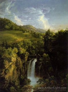 Thomas Cole's oil painting Genesee Scenery
