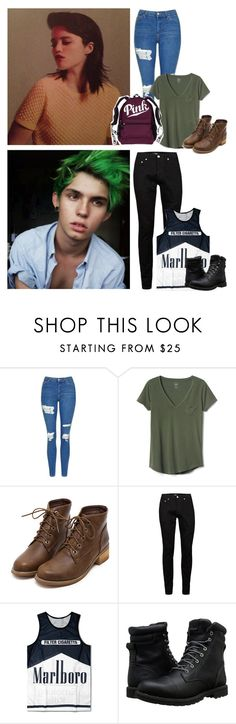 """Cuddfan's Tavern"" by the-infinite-anons ❤ liked on Polyvore featuring Topshop, Gap, Topman and Timberland"