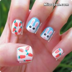Easter Bunny Nail Art {Tutorial}