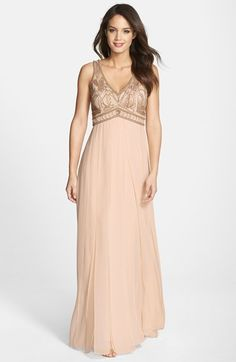 Sue Wong Embroidered Bodice Chiffon Gown available at #Nordstrom