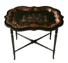 Tole Tray Table #Victorian #unknown