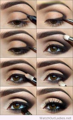 Kim Kardashian smokey eye tutorial