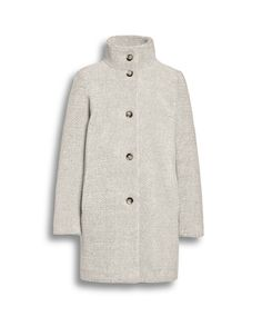 High collar faux fur coat in off white from Beaumont Amsterdam in the winter collection of Irish Handcrafts of Limerick.