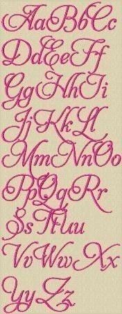 Love Lace Machine Embroidery Font