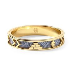 New House of Harlow Aztec Bangle Sapphire Blue 14k Gold P Vintage Round Bracelet #gold #vintage #round #bracelet #blue #sapphire #harlow #aztec #bangle #house