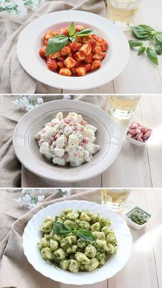 E voi, come preferite condire gli gnocchi? Aspetto i vostri suggerimenti! Chorizo, Italian Table, Gnocchi Recipes, Weekday Meals, Italian Recipes, Risotto, Buffet, Food And Drink, Dinner