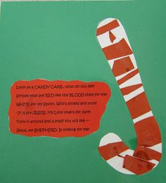 Candy cane and poem