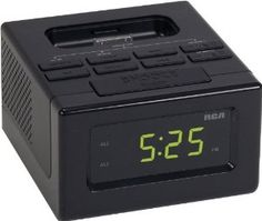 Amazon.com: RCA RC130i Clock Radio with Built-In iPod Dock 4G Compatible with iPod and iPhone - Black: Electronics