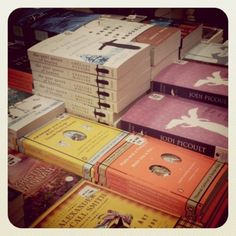 When I see books laid out like this in a book store, it fills my heart with ecstatic joy!