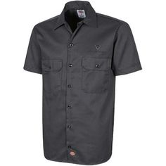 - 65% polyester, 35% cotton twill - Visa® moisture-wicking and stain-release finish; extra-long tail - Generous fit across shoulders; two chest pockets - Decoration type: Embroidery - Made by Dickies