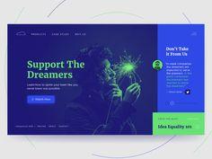 35+ Clean and Creative Website Design ideas for Inspiration    Creative website header layout idea