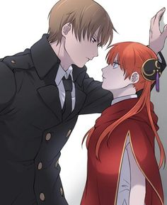 Anime: Gintama Personagens: Okita Sougo e Kagura Anime Cupples, Anime Couples Manga, Cute Anime Couples, Kawaii Anime, Anime Guys, Gintama Wallpaper, Fantasy Couples, Okikagu, Fairy Tail Ships