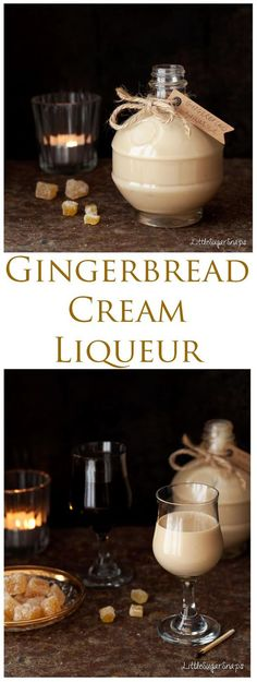 Gingerbread Cream Liqueur is deeply warming and comforting This smart winter tipple blends spice-infused rum and fresh cream in a way that is hard to resist Treat yourself or a loved one to a bottle this winter Click the image for more info. Homemade Alcohol, Homemade Liquor, Homemade Liqueur Recipes, Homemade Limoncello, Cream Liqueur, Fresh Cream, Christmas Drinks, Alcohol Recipes, Food Gifts