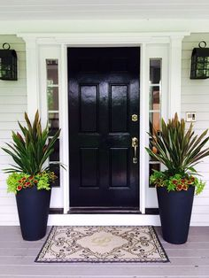 Why not check here assigned entry porch design Front Porch Plants, Front Porch Flowers, Front Door Planters, Front Porch Design, Patio Plants, Front Door Entrance, House Entrance, Front Door Decor, Front Doors