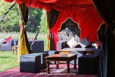 This beautiful colourful inspired tent that has a festival vide with the bright, vibrant velvet looking draping, perfect for an Indian Wedding too! Alongside that, simple but gorgeous furnishings to top it off! Marquee Hire, Marquee Wedding, Tent Wedding, Luxury Wedding, Arabian Tent, Wedding Furniture, Wedding Boudoir, Wedding Images, Draping