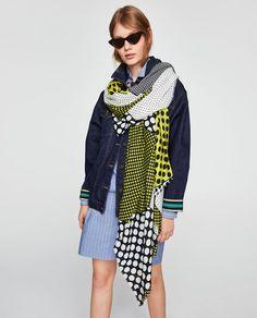 Image 5 of POLKA DOT PRINT SCARF from Zara