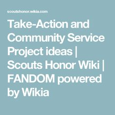 Take-Action and Community Service Project ideas | Scouts Honor Wiki | FANDOM powered by Wikia