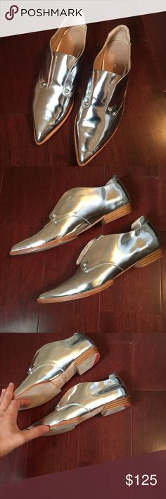 Joes Jeans Metallic Silver Flats Size 7.5 Joes Jeans Metallic Silver Flats Size 7.5 Worn Once Joe's Jeans Shoes Flats & Loafers