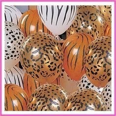 Safari balloons. Carnival & Party Warehouse Costumes 1300 772 789 or order from sales@capw.com.au