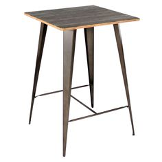 Shop for Carbon Loft Samira Industrial-Farmhouse Bar Table. Get free delivery at Overstock - Your Online Furniture Shop! Get in rewards with Club O! Coastal Furniture, Dining Furniture, Modern Furniture, Steel Furniture, How To Antique Wood, Or Antique, Antique Metal, Industrial Chic Style, Industrial Farmhouse
