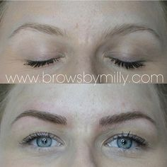 For a naturally fuller look #browsbymilly #microblading by sweetpeachsugar