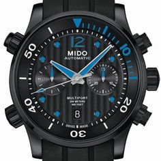 MIDO MULTIFORT Chronograph Caliber 60 Up to 60 hours power reserve for a timepiece equipped for every challenge (See more at En/Fr: http://watchmobile7.com/articles/mido-multifort-chronograph-caliber-60) #watches #montres #mido