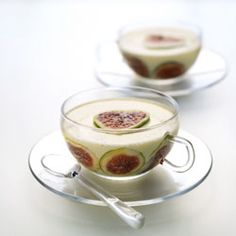 Fig and Honey Pannacotta from Desserts by Michel Roux #foodgawker