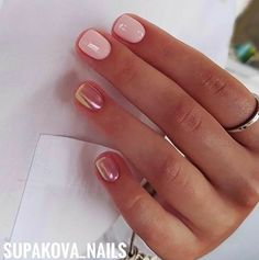 So love this look for a manicure. Great for short natural or acrylic nails #nails #unas #nailart