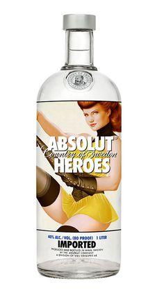 "Absolut Vodka ""Heroes"" Bottles on Behance"