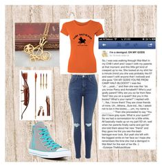 """CHB"" by justalilsassy ❤ liked on Polyvore featuring Topshop and Converse"