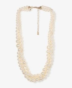 Multi-Strand Pearlescent Necklace | FOREVER 21 - 1025102141