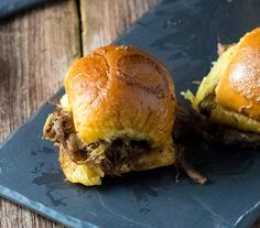 Baked Mississippi Roast Party Sandwiches via @foxvalleyfoodie