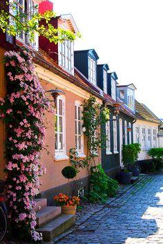Møllestien - a steet in Aarhus, Denmark